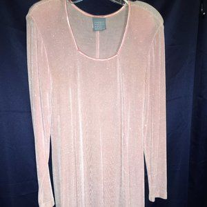 DRESS PRON OR WEDDINGS PINK LONG SLEEVE SIZE 10